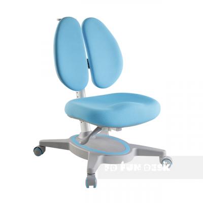 Комплект FunDesk Парта-трансформер Volare с креслом Primavera II и прозрачной накладкой на парту 65х45