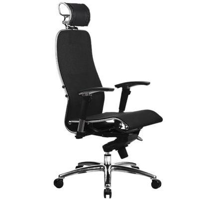 Эргономическое офисное кресло SAMURAI S-3.03 с 3D подголовником черный плюс (образец)