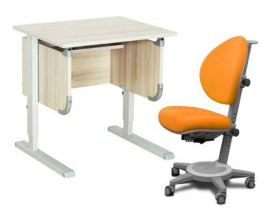 """Комплект ДЭМИ Парта """"Ученик"""" сут-28 с креслом Cambridge и прозрачной накладкой на парту 65х45"""
