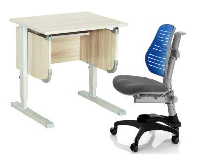 """Комплект ДЭМИ Парта """"Ученик"""" сут-28 с креслом Oxford C3 и прозрачной накладкой на парту 65х45"""