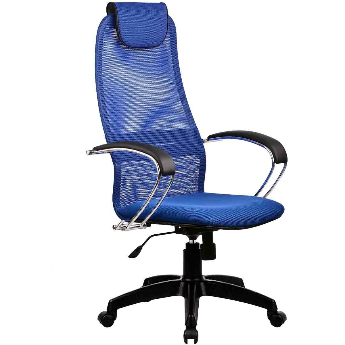 Фото - Офисное кресло Metta BK-8 Ткань и эко-кожа Синий Черный имидж мастер парикмахерское кресло версаль гидравлика пятилучье хром 49 цветов небесный 4