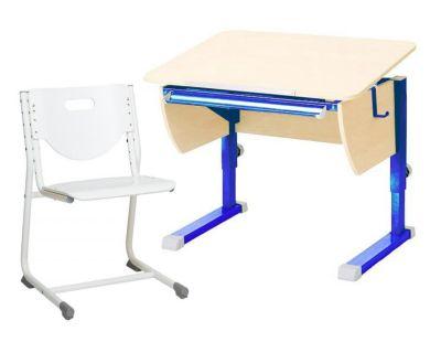 Комплект Астек Парта КОЛИБРИ со стулом SF-3 и прозрачной накладкой на парту 65х45