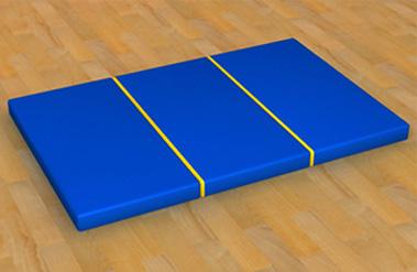 Мат гимнастический (складной) 1 х 1.5 м мат гимнастический zso 200x100x10 см тентовая ткань 630 без поролона