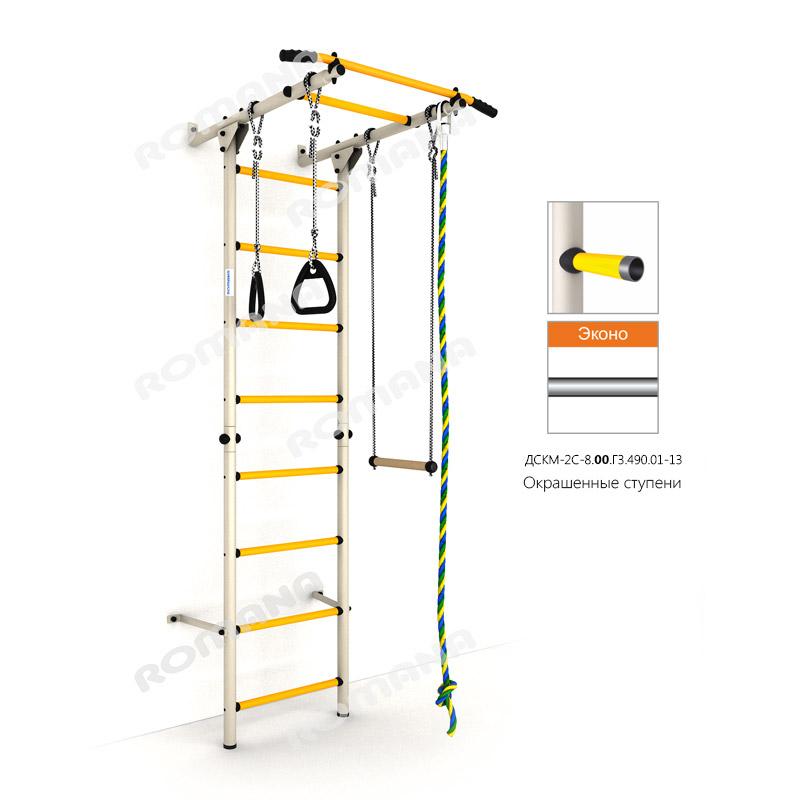 Шведская стенка РОМАНА Карусель S1 Эконо (окрашенная ступень) стенка гимнастическая polsport 220х180см 2 секции