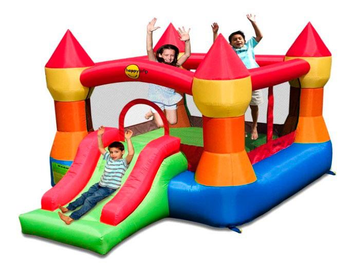 цена на Надувной комплекс Happy Hop 9017N Супер Прыжок ПВХ Смешанный