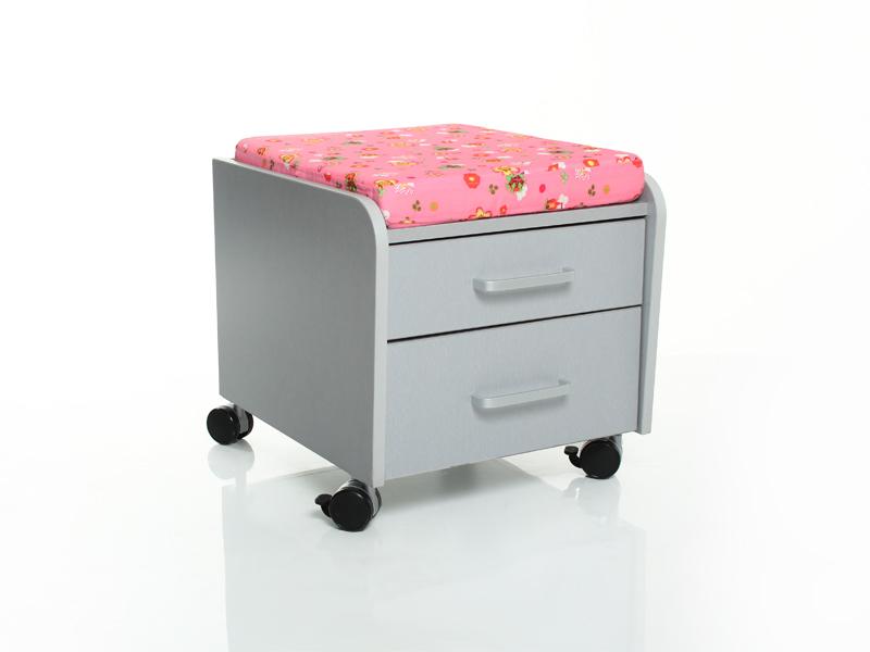 Тумбочка Comf-Pro BD-C2 Розовый со зверями Серый Серый