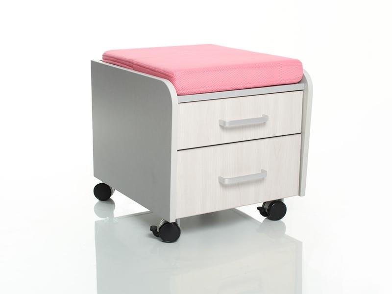 Тумбочка Comf-Pro BD-C2 Розовый Серый Беленый Дуб