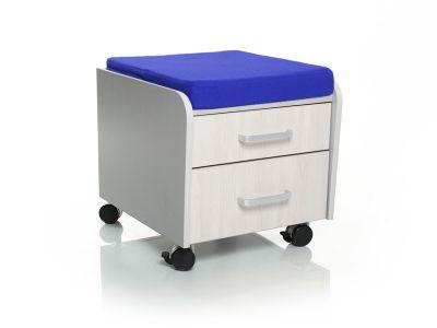 Тумбочка Comf-Pro BD-C2 Синий Серый Беленый Дуб
