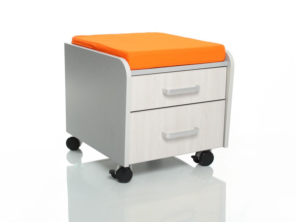 Тумбочка Comf-Pro BD-C2 Оранжевый Серый Беленый Дуб
