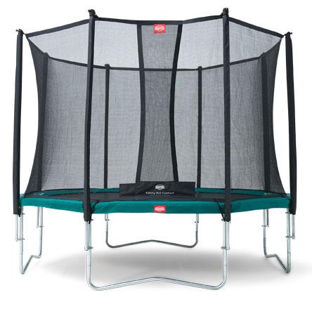 Батут Berg Favorit 430 + Safety Net Comfort D=430 см зонт пляжный с креплением на стул d 120 см h 96 см розовый