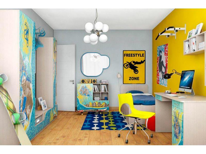 Молодежная комната ВасКо ЮНА 2 васко тумба навесная сканди 106
