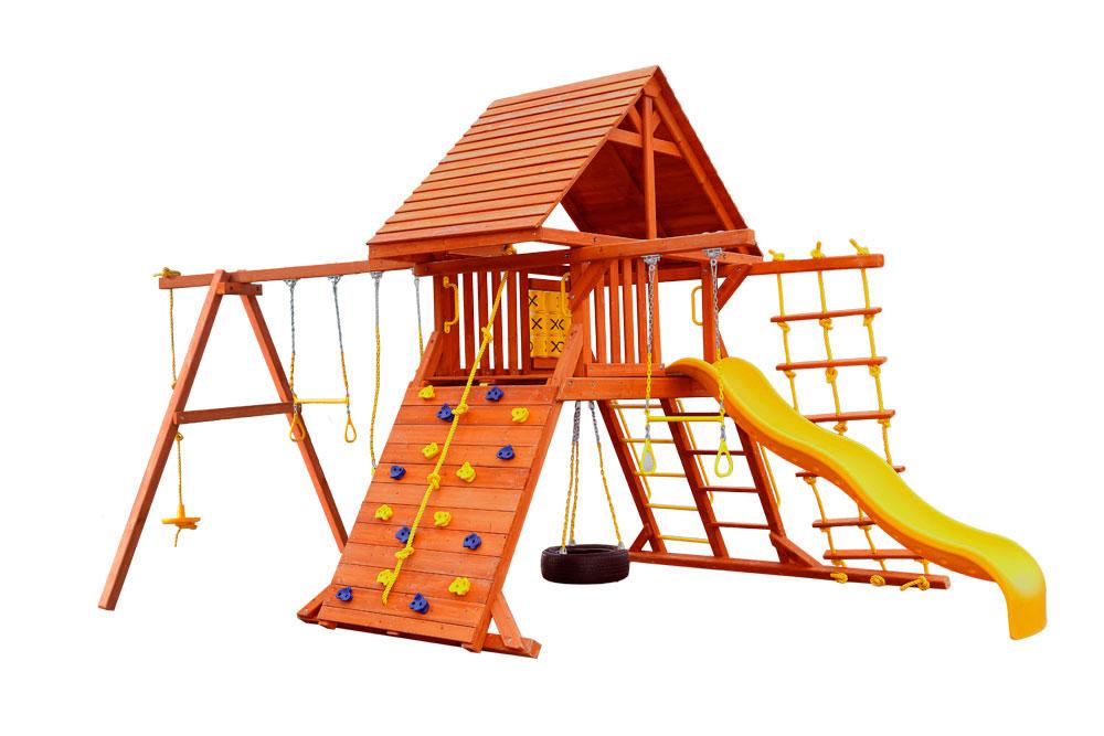 Детская игровая площадка PlayGarden Original Castle Массив дерева Массив Кипариса playgarden игровая площадка original castle с пентхаусом