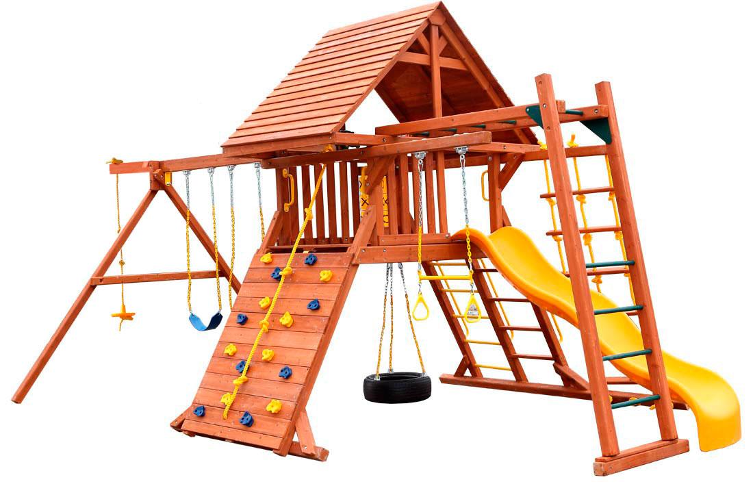 Детская игровая площадка PlayGarden Original Castle II с рукоходом Массив дерева Массив Кипариса playgarden игровая площадка original castle с пентхаусом