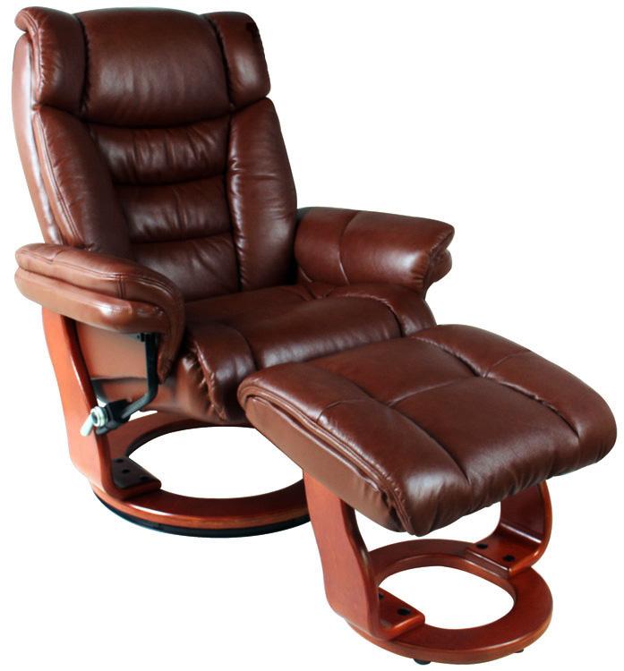 Кресло Falto Relax Zuel 7582 W с пуфом для ног Массив дерева Бордо Орех