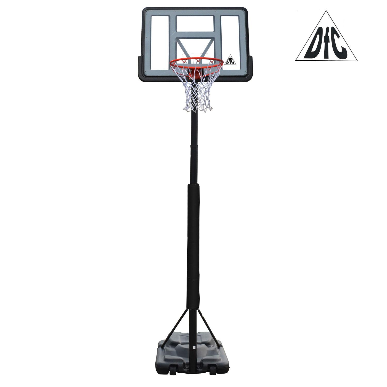 Стойка баскетбольная мобильная DFC STAND44PVC3 Металл Черный меридиан домик когтеточкаквадратный трехэтажный с двумя окошка лоза джут рис далматин белый фон черный рисунок 45 х 47 х 75 см