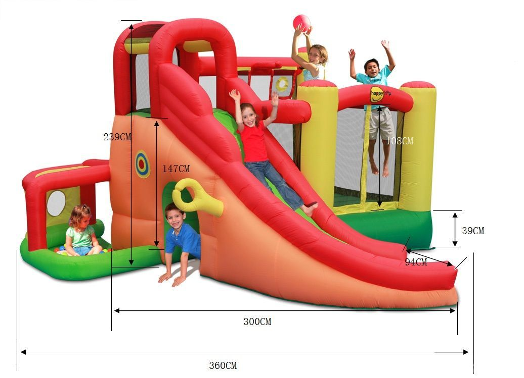 Happy Hop Детский надувной Батут HAPPY HOP «Игровой Центр 11 в 1» 9406N батут детский надувной jumpo волшебный замок 225x220x215 см