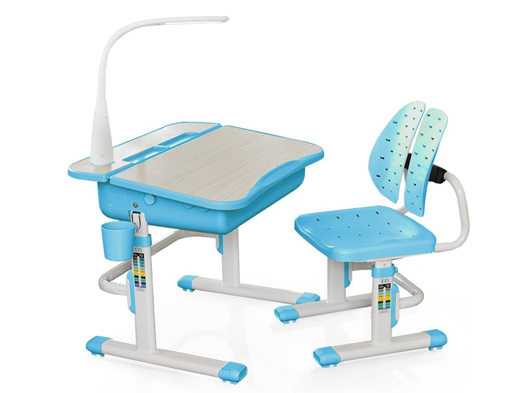 Комплект парта и стульчик Mealux EVO-03 с лампой