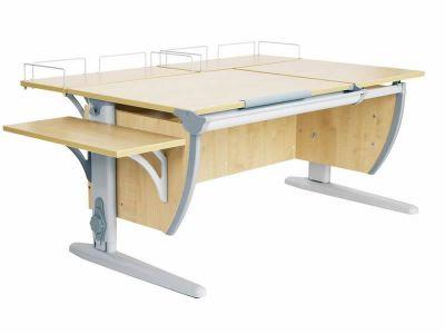 Комплект ДЭМИ Парта СУТ 17-02 с креслом Stanford Duo и прозрачной накладкой на парту 65х45