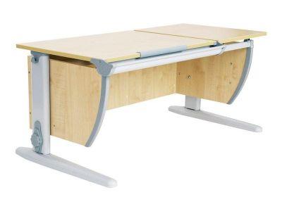 Комплект ДЭМИ Парта СУТ-17 120Х55 см с раздельной столешницей с креслом Duo Kid mini и прозрачной накладкой на парту 65х45