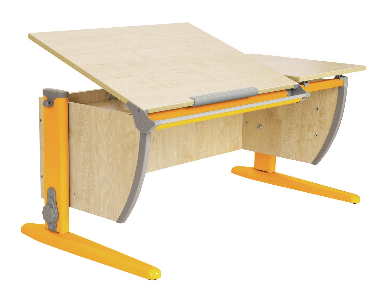 Купить со скидкой Парта ДЭМИ 120Х55 см с раздельной столешницей (СУТ-17) Клен Оранжевый
