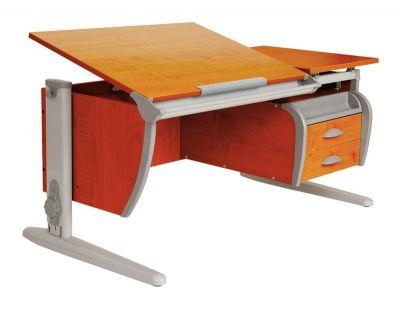 Комплект ДЭМИ Парта СУТ-17-04 120х80 см с креслом Conan и прозрачной накладкой на парту 65х45