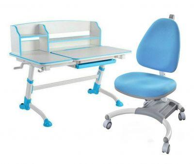 Комплект FunDesk Парта-трансформер Amare II с креслом SST4 и прозрачной накладкой на парту 65х45