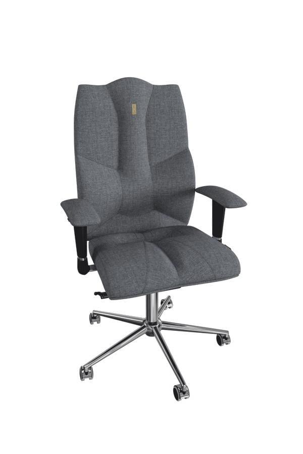 Офисное кресло Kulik System Business с материалом Азур Металл Серый Серебро