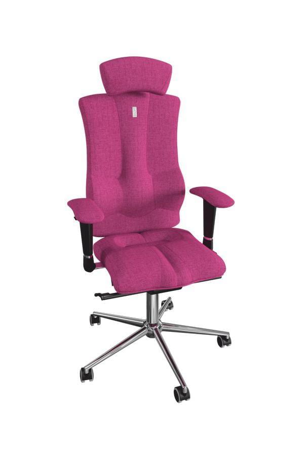 Офисное кресло Kulik System Elegance с материалом Азур и 3D подголовником Металл Розовый Серебро офисное кресло kulik monarch материал азур инд прошивка aristo 3d подголовник
