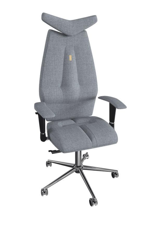 Офисное кресло Kulik System Jet с материалом Азур и 3D подголовником Металл Серый Серебро офисное кресло kulik monarch материал азур инд прошивка aristo 3d подголовник