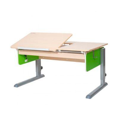 Комплект Астек Парта ЛИДЕР Береза со стулом SK-2 и прозрачной накладкой на парту 65х45