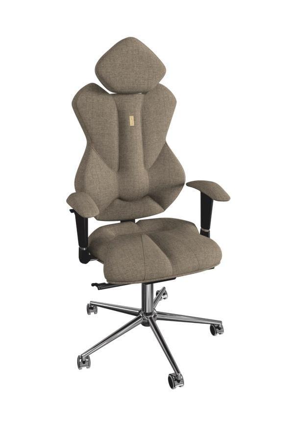 Офисное кресло Kulik System Royal с материалом Азур и 3D подголовник Металл Серый Серебро офисное кресло kulik monarch материал азур инд прошивка aristo 3d подголовник