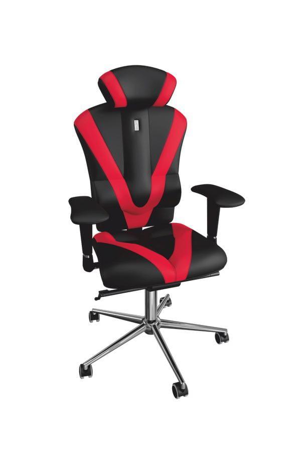 цена на Офисное кресло Kulik System Victory с отделкой Duo Color и 3D подголовником Металл Черно-красный Серебро
