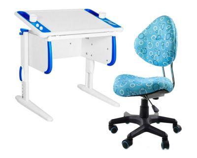 Комплект ДЭМИ Парта Techno СУТ 26 с креслом Aladdin и прозрачной накладкой на парту 65х45