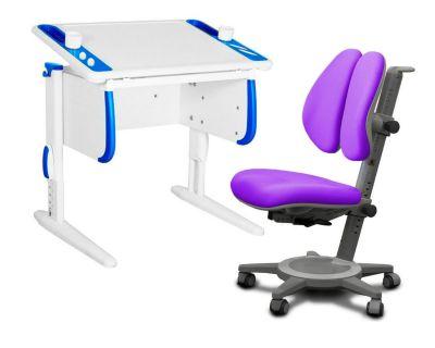 Комплект ДЭМИ Парта Techno СУТ 26 с креслом Cambridge Duo и прозрачной накладкой на парту 65х45