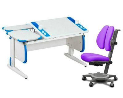 Комплект ДЭМИ Парта Techno СУТ 31-01 с креслом Cambridge Duo и прозрачной накладкой на парту 65х45