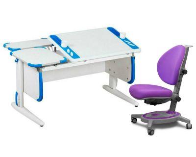 Комплект ДЭМИ Парта Techno СУТ 31-01 с креслом Stanford и прозрачной накладкой на парту 65х45