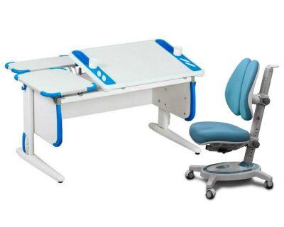 Комплект ДЭМИ Парта Techno СУТ 31-01 с креслом Stanford Duo и прозрачной накладкой на парту 65х45