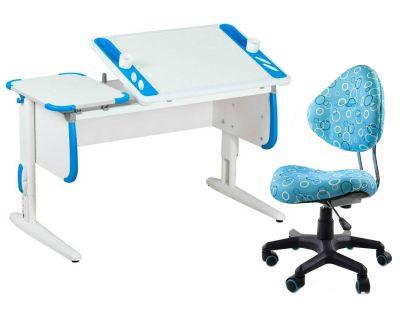 Комплект ДЭМИ Парта Techno СУТ 31 с креслом Aladdin и прозрачной накладкой на парту 65х45