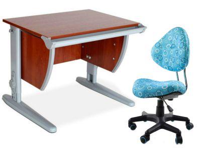 Комплект ДЭМИ Парта СУТ-13 60х50 см с креслом Aladdin и прозрачной накладкой на парту 65х45