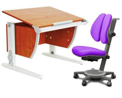Комплект ДЭМИ Парта СУТ-14 75х55 см с креслом Cambridge Duo и прозрачной накладкой на парту 65х45