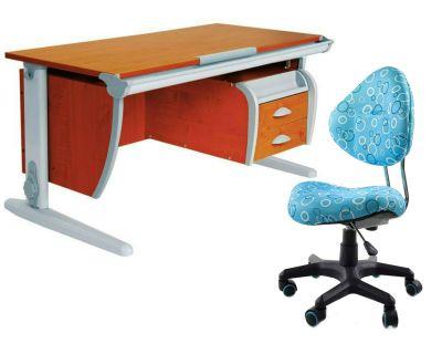 Комплект ДЭМИ Парта СУТ-15-03 120х55 см с креслом Aladdin и прозрачной накладкой на парту 65х45
