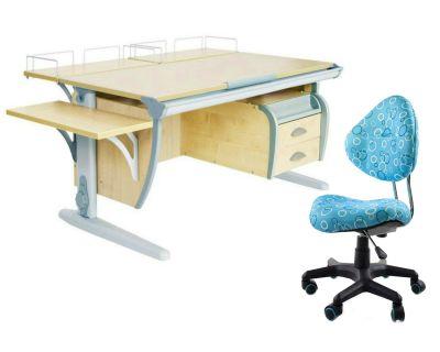 Комплект ДЭМИ Парта СУТ-15-05 120х55 см с креслом Aladdin и прозрачной накладкой на парту 65х45