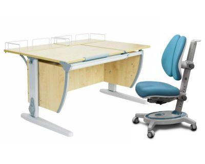 Комплект ДЭМИ Парта СУТ-17-01 120х80 см с креслом Stanford Duo и прозрачной накладкой на парту 65х45