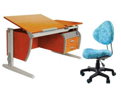 Комплект ДЭМИ Парта СУТ-17-04 120х80 см с креслом Aladdin и прозрачной накладкой на парту 65х45