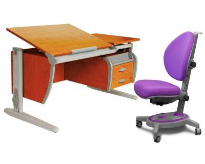 Комплект ДЭМИ Парта СУТ-17-04 120х80 см с креслом Stanford и прозрачной накладкой на парту 65х45