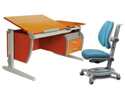 Комплект ДЭМИ Парта СУТ-17-04 120х80 см с креслом Stanford Duo и прозрачной накладкой на парту 65х45