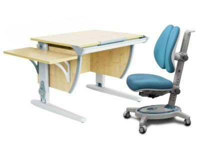 Комплект ДЭМИ Парта СУТ 14К с креслом Stanford Duo и прозрачной накладкой на парту 65х45