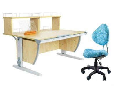Комплект ДЭМИ Парта СУТ 15-01Д2 с креслом Aladdin и прозрачной накладкой на парту 65х45