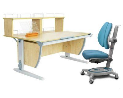 Комплект ДЭМИ Парта СУТ 15-01Д2 с креслом Stanford Duo и прозрачной накладкой на парту 65х45
