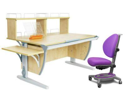 Комплект ДЭМИ Парта СУТ 15-02Д2 с креслом Stanford и прозрачной накладкой на парту 65х45